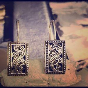 Silpada Sterling Silver Paisley Filigree Earrings